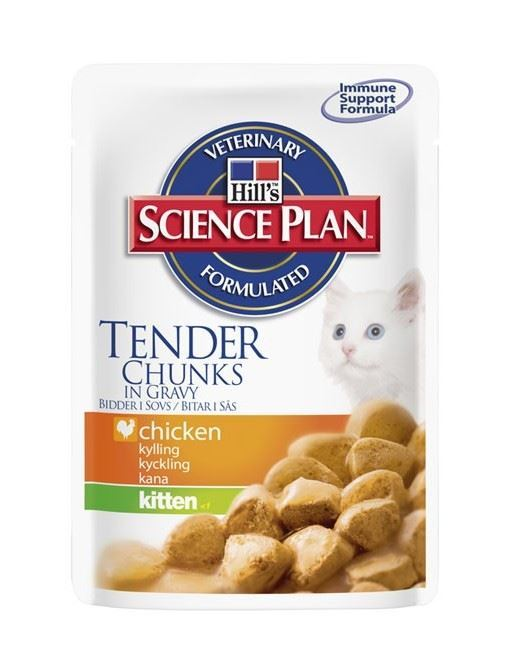 Hill´s Science Plan Kitten Pouch with Chicken Bocaditos de Pollo en Salsa para Gatitos - Imagen 1