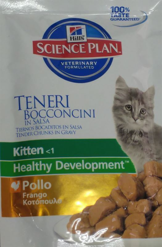 Hill´s Science Plan Kitten Pouch with Chicken Bocaditos de Pollo en Salsa para Gatitos - Imagen 3
