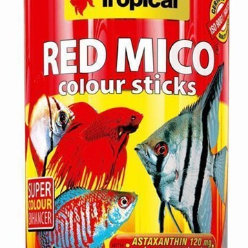 Tropical Red Mico Colour Sticks Comida para peces en Sticks - Imagen 1